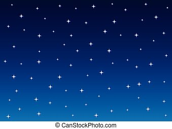 étoilé, fond, ciel nuit