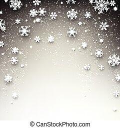 étoilé, hiver, noël, arrière-plan.