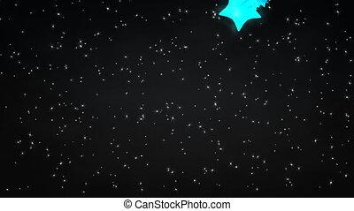 étoilé, nigt, meteor.