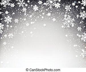 étoilé, noël, hiver, arrière-plan.