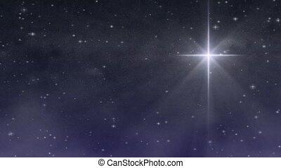étoilé, nuit, -, bethlehem, boucle, hd
