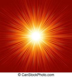 étoile, éclatement, isolé, space., eps, 8, blanc rouge
