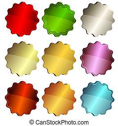étoile, étiquettes, ensemble, coloré