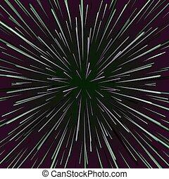 étoile, étoiles, éclater, hyperspace., résumé, espace, fond, vortex, vector., chaîne, ou