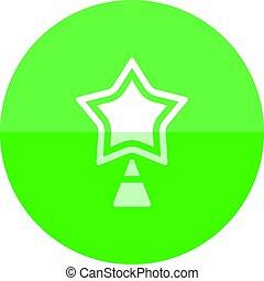 étoile, arbre, -, cercle, noël, icône