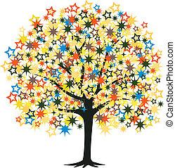 étoile, arbre