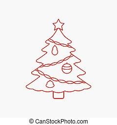 étoile, arbre, noël, icône