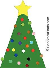 étoile, arbre, noël, jaune