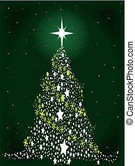 étoile, arbre, noël, spangled