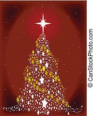 étoile, arbre, rouges, spangled, noël