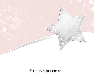 étoile, argent, fond