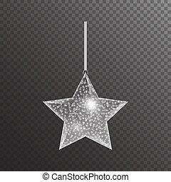 étoile argent, noël