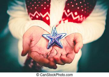 étoile, argent, tenue