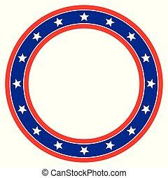 étoile, arrière-plan bleu, cercle, blanc rouge