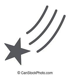 étoile, arrière-plan., signe, modèle, espace, solide, vecteur, nuit, graphiques, icône, tomber, tir, blanc, glyph