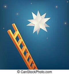étoile, atteindre