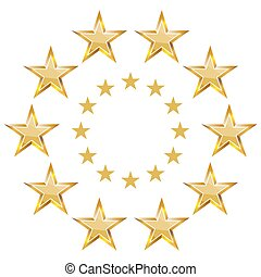 étoile, bannière, icône