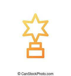 étoile, blanc, formé, trophée, fond