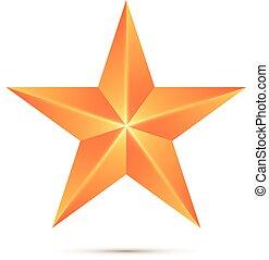 étoile, blanc, vecteur, isolé, fond