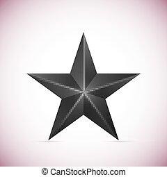 étoile, blanc, vecteur, noir, isolé, fond