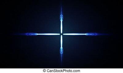 étoile, bleu, vidéo