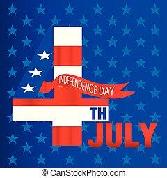étoile bleue, fond, image, vecteur, quatrième, juillet, jour, indépendance