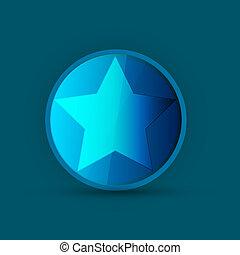 étoile bleue, icône