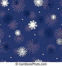 étoile bleue, seamless, marine, vecteur, modèle, flocons neige, arrière-plan.