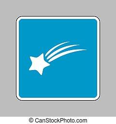 étoile bleue, signe., signe, arrière-plan., blanc, tir, icône