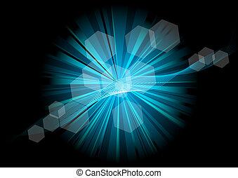étoile bleue