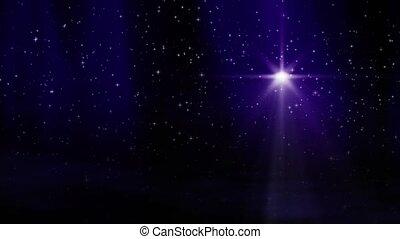 étoile, boucle, violet
