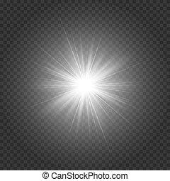 étoile brillante, argenté