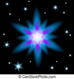 étoile brillante, incandescent, noël