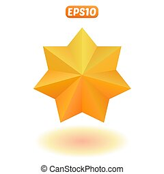 étoile brillante, or