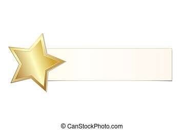 étoile, briller, illustration, or, vecteur, vacances, bannière, stockage