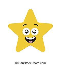 étoile, caractère, heureux