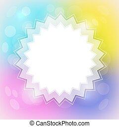 étoile, centre, coloré, formé, résumé, brouillé, vecteur, endroit, fond, blanc