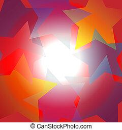étoile, centre, résumé, clair, fond, projecteur