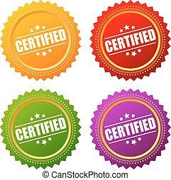 étoile, certifié, icône