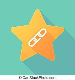 étoile, chaîne, icône