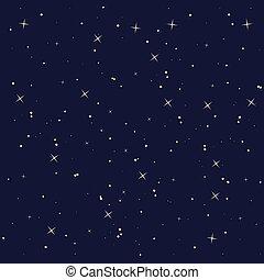 étoile, ciel, isolé, conception, nuit, icône