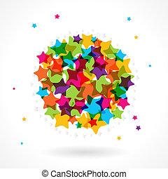 étoile, circle., coloré