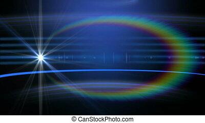 étoile, circulaire, animation, bleu, trajectoire, fond