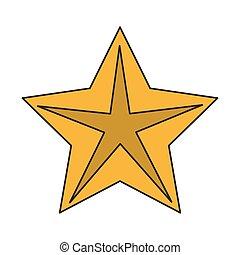 étoile, clair, conception, isolé