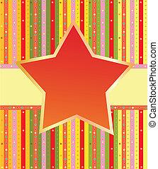 étoile, coloré, étiquette