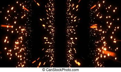 étoile, coloré, espace, seamless, particle., comète, scintillement, boucle