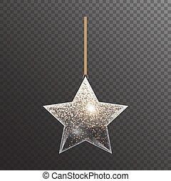 étoile, coloré, noël