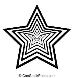 étoile, conception abstraite