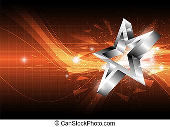 étoile, conception abstraite, fond