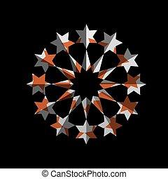 étoile, conception abstraite, symbole